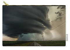 Carry-all Pouch featuring the photograph Road To Mesocyclone by Aaron J Groen