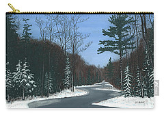 Road To Northport - Winter Carry-all Pouch