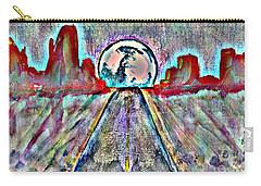 Carry-all Pouch featuring the painting Road To Sedona 2 by Reed Novotny