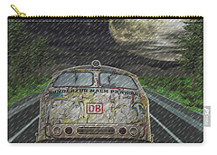 Carry-all Pouch featuring the digital art Road Trip In The Rain by Angela Hobbs