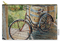 Carry-all Pouch featuring the painting Roadmaster Bicycle 2 by Joey Agbayani