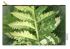Roadside Fern, Abstract 2 - Carry-all Pouch