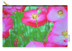 Carry-all Pouch featuring the photograph Roadside Flowers by Tom Singleton