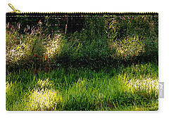 Carry-all Pouch featuring the photograph Roadside Green Palette In Sunlight by Charlie Spear