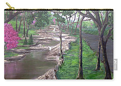 Roadside Park 1  Carry-all Pouch by T Fry-Green