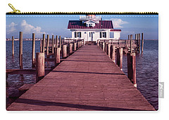 Carry-all Pouch featuring the photograph Roanoke Marshes Lighthouse by Penny Lisowski