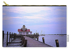 Full Moon Over Roanoke Marshes Lighthouse Carry-all Pouch