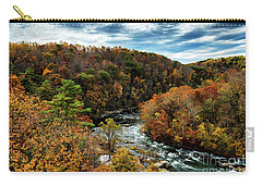 Roanoke River Blue Ridge Parkway Carry-all Pouch by Thomas R Fletcher