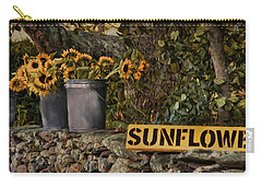 Carry-all Pouch featuring the photograph Roadside Sunshine by Robin-Lee Vieira