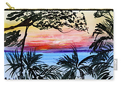 Roatan Sunset Carry-all Pouch by Donna Walsh