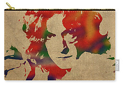 Robert Plant Led Zeppelin Watercolor Portrait Carry-all Pouch