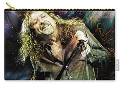 Robert Plant Carry-all Pouch by Mal Bray