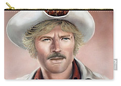 Carry-all Pouch featuring the painting Robert Redford by Loxi Sibley