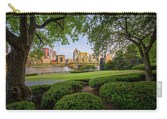 Carry-all Pouch featuring the photograph Roberto Clemente Bridge by Emmanuel Panagiotakis