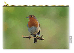 Carry-all Pouch featuring the digital art Robin-1 by Paul Gulliver