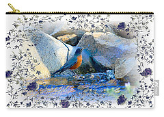 Carry-all Pouch featuring the photograph Robin by Athala Carole Bruckner
