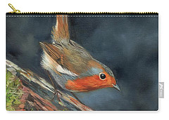 Carry-all Pouch featuring the painting Robin by David Stribbling