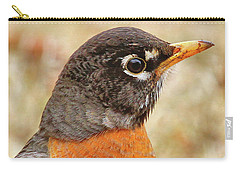 Carry-all Pouch featuring the photograph Robin by Debbie Stahre