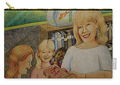 Robin Gives The Book Of Stories To The Children Carry-all Pouch