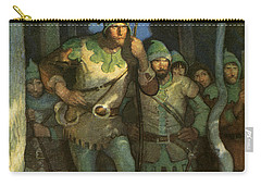 Robin Hood And His Merry Men Carry-all Pouch by Newell Convers Wyeth