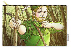Robin  Hood In Sherwood Forest Carry-all Pouch