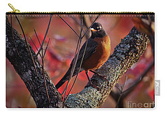Carry-all Pouch featuring the photograph Robin In The Dogwood by Douglas Stucky
