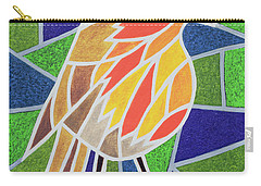 Robin On Stained Glass Carry-all Pouch by Pat Scott