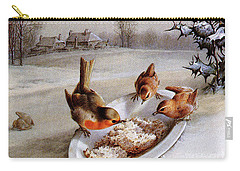 Robins And Wrens  Winter Breakfast Carry-all Pouch