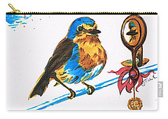 Robins Day Tasks Carry-all Pouch by Teresa White