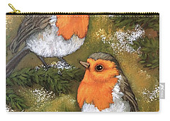Robins, Winter Carry-all Pouch