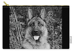 Carry-all Pouch featuring the photograph Rocco - Bw by Sandy Keeton