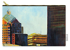 Carry-all Pouch featuring the painting Rochester New York Late Winter by Jodie Marie Anne Richardson Traugott          aka jm-ART