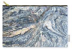 Rock Abstract Carry-all Pouch by Russell Keating