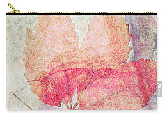 Carry-all Pouch featuring the photograph Rock And Leaf Composite 2 by Elaine Teague
