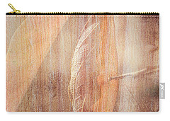 Carry-all Pouch featuring the photograph Rock And Leaf Composite by Elaine Teague