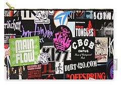 Rock And Roll Stickers Carry-all Pouch