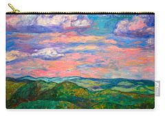 Carry-all Pouch featuring the painting Rock Castle Gorge by Kendall Kessler