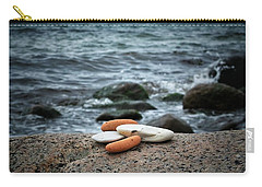 Carry-all Pouch featuring the photograph Rock Collection by Karen Stahlros