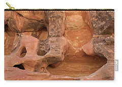 Carry-all Pouch featuring the photograph Rock Face by PJ Boylan