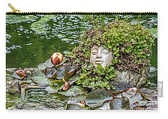 Carry-all Pouch featuring the photograph Rock Face Revisited by Kate Brown