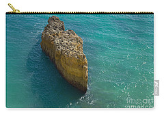 Rock Formation And The Sea In Algarve Carry-all Pouch by Angelo DeVal