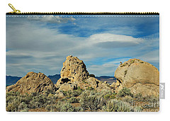 Carry-all Pouch featuring the photograph Rock Formations At Pyramid Lake by Benanne Stiens