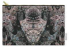 Carry-all Pouch featuring the digital art Rock Gods Elephant Stonemen Of Ogunquit by Nancy Griswold