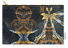 Carry-all Pouch featuring the digital art Rock Gods Lichen Lady And Lords by Nancy Griswold