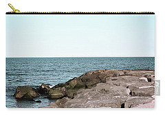 Carry-all Pouch featuring the photograph Rock Jetty by Colleen Kammerer
