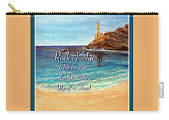 Carry-all Pouch featuring the painting Rock Of Ages Let Me Hide Myself In Thee by Kimberlee Baxter