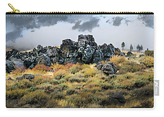 Carry-all Pouch featuring the photograph Rock Outcrop by Frank Wilson