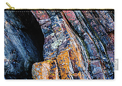 Carry-all Pouch featuring the photograph Rock Pattern Sc01 by Werner Padarin