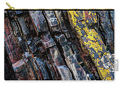 Carry-all Pouch featuring the photograph Rock Pattern Sc02 by Werner Padarin