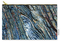 Carry-all Pouch featuring the photograph Rock Pattern Sc03 by Werner Padarin